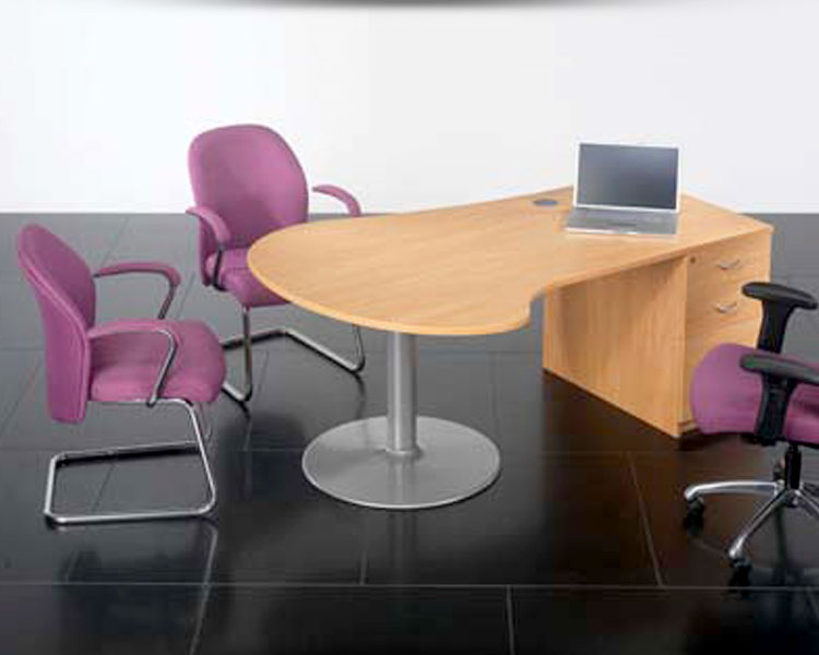 Consultation desk with meeting style chairs